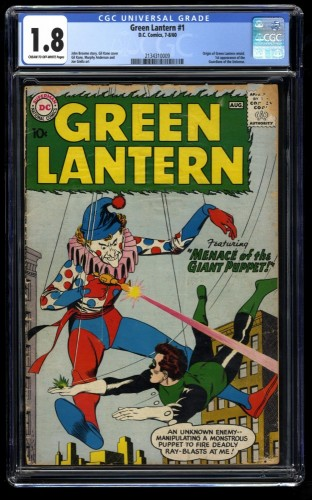 Green Lantern #1 CGC GD- 1.8 Cream To Off White 1st Guardians of The Universe!