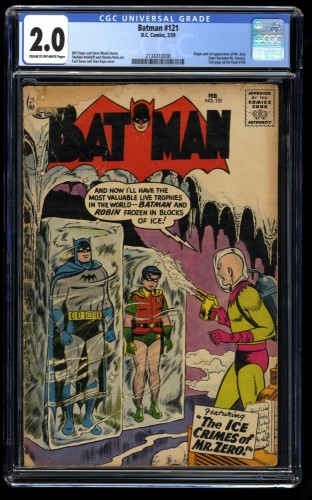 Batman #121 CGC GD 2.0 Cream To Off White 1st Mr. Freeze!