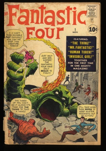 Fantastic Four #1 FA/GD 1.5 Marvel Comics