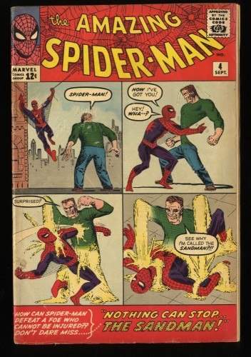 Amazing Spider-Man #4 VG/FN 5.0 1st Sandman! Marvel Comics Spiderman