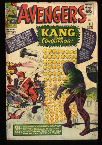 Avengers #8 GD/VG 3.0 1st Kang! Marvel Comics Thor Captain America