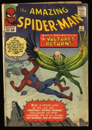 Amazing Spider-Man #7 GD 2.0 Vulture! Marvel Comics Spiderman