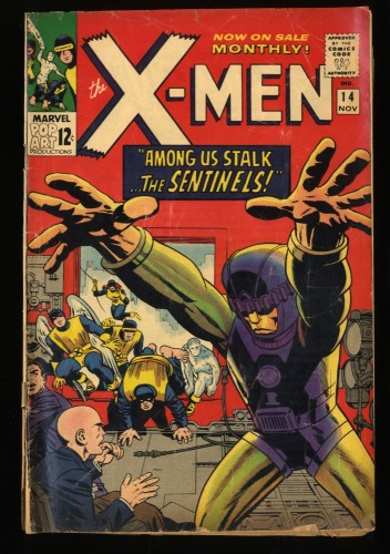 X-Men #14 GD/VG 3.0 1st Sentinels! Marvel Comics