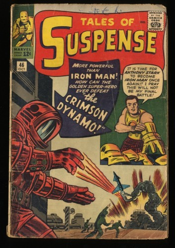 Tales Of Suspense #46 GD+ 2.5 1st Crimson Dynamo! Iron Man