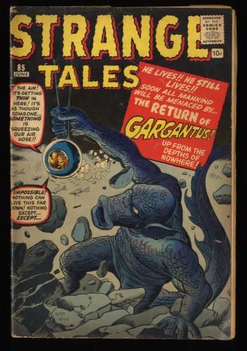 Strange Tales #85 VG 4.0