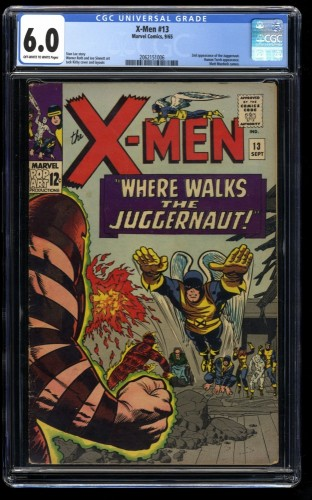 X-Men #13 CGC FN 6.0 Off White to White 2nd Juggernaut! Marvel Comics