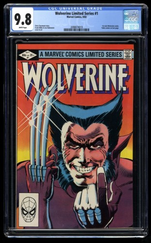 Wolverine Limited Series #1 CGC NM/M 9.8 White Pages