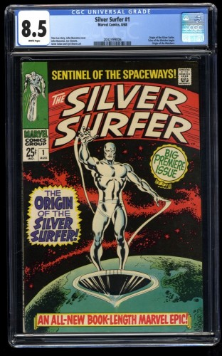 Silver Surfer #1 CGC VF+ 8.5 White Pages Marvel Comics
