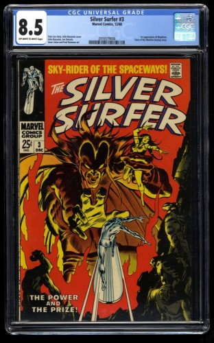 Silver Surfer #3 CGC VF+ 8.5 Off White to White 1st Mephisto! Marvel Comics