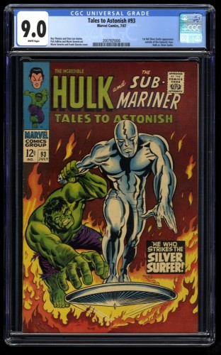 Tales to Astonish #93 CGC VF/NM 9.0 White Pages Silver Surfer!