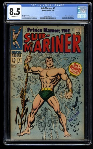 Sub-Mariner #1 CGC VF+ 8.5 Off White Marvel Comics