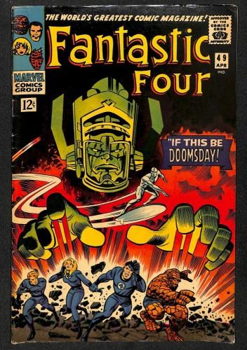 Fantastic Four #49 FN 6.0 2nd Silver Surfer! 1st Full Galactus! Marvel Comics