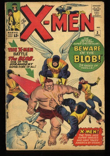 X-Men #3 GD+ 2.5 1st Blob! Marvel Comics