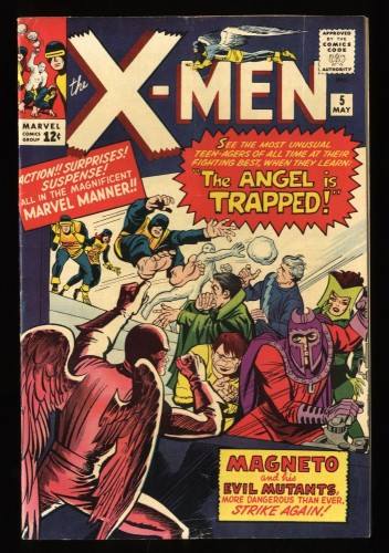X-Men #5 FN- 5.5 2nd Magneto! Beautiful Copy!