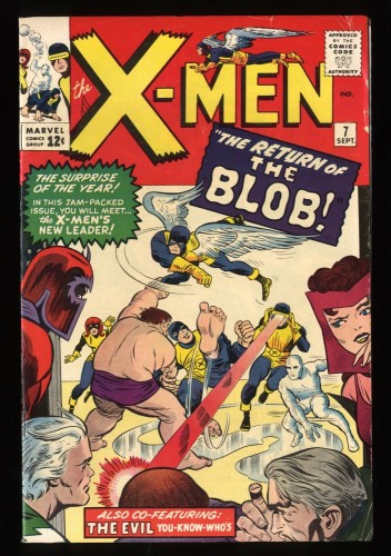 X-Men #7 FN 6.0 Blob! Beautiful Copy!