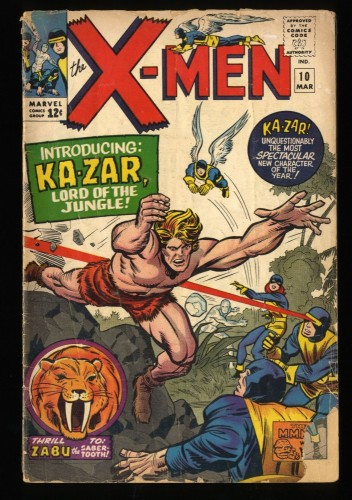 X-Men #10 GD- 1.8 1st Ka-Zar! Marvel Comics