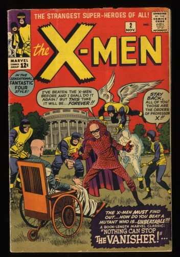 X-Men #2 VG 4.0 1st Vanisher! Marvel Comics