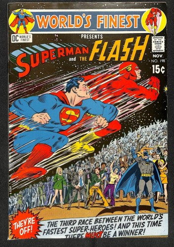 World's Finest Comics #198 FN/VF 7.0 Superman Flash Race!