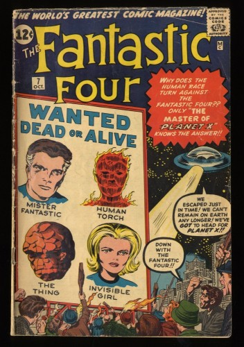 Fantastic Four #7 VG- 3.5 1st Kurrgo! Marvel Comics