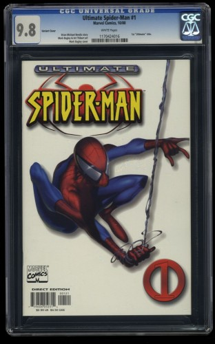 Ultimate Spider-man #1 CGC NM/M 9.8 White Variant Cover!
