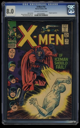 X-Men #18 CGC VF 8.0 Off White to White Marvel Comics