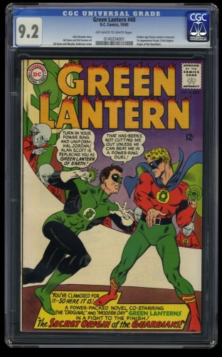 Green Lantern #40 CGC NM- 9.2 Off White to White DC Comics