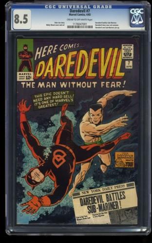 Daredevil #7 CGC VF+ 8.5 Cream To Off White Marvel Comics