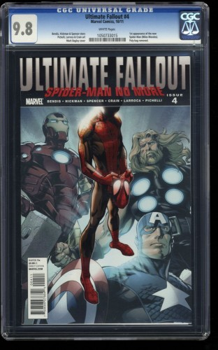 Ultimate Fallout #4 CGC NM/M 9.8 White Pages 1st Miles Morales!