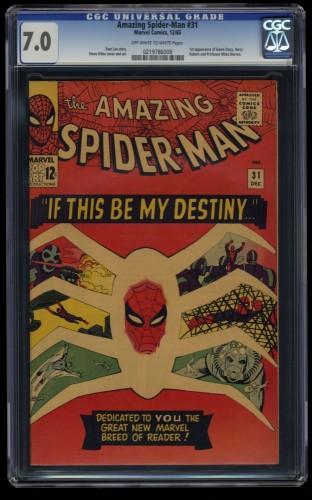 Amazing Spider-Man #31 CGC FN/VF 7.0 Off White to White 1st Gwen Stacy!