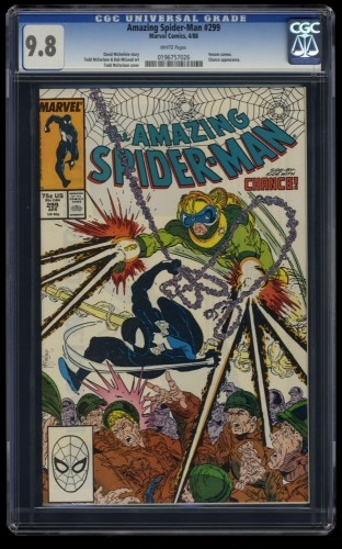 Amazing Spider-Man #299 CGC NM/M 9.8 White Pages 1st Venom Cameo!