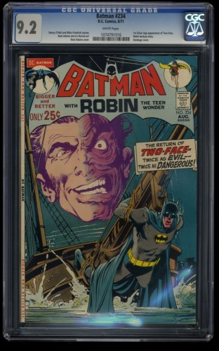 Batman #234 CGC NM- 9.2 White Pages 1st Silver Age Two-Face!