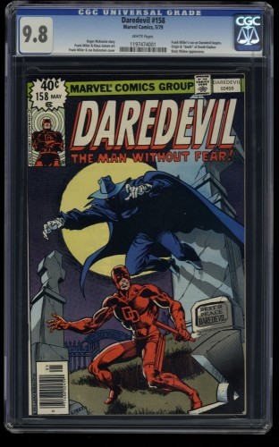 Daredevil #158 CGC NM/M 9.8 White Pages 1st Frank Miller in Daredevil!