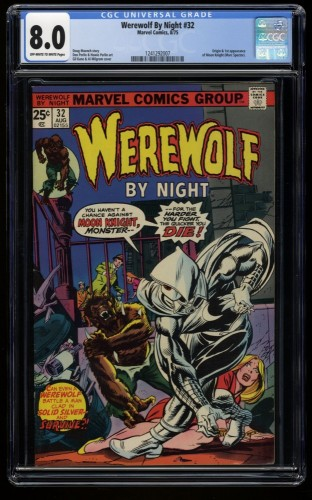 Werewolf By Night #32 CGC VF 8.0 Off White to White 1st Moon Knight!