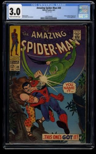 Amazing Spider-Man #49 CGC GD/VG 3.0 Cream To Off White Kraven!