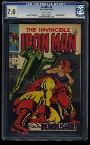 Iron Man #2 CGC FN/VF 7.0 Off White Marvel Comics