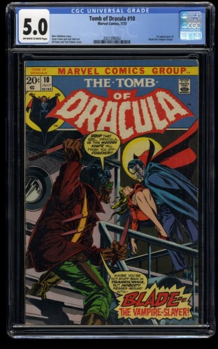 Tomb of Dracula #10 CGC VG/FN 5.0 Off White to White 1st Blade! Marvel Comics