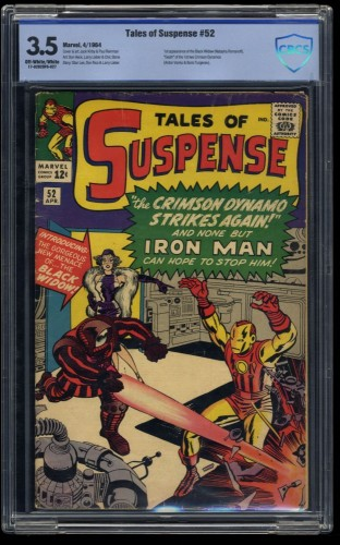 Tales of Suspense #52 CBCS VG- 3.5 Off White to White 1st Black Widow! Iron Man