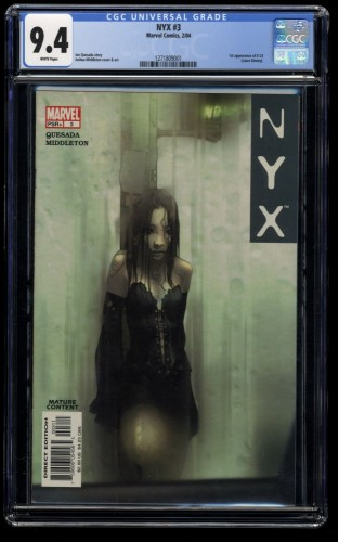 NYX #3 CGC NM 9.4 White Pages 1st X-23!