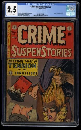 Crime SuspenStories #22 CGC GD+ 2.5 Off White