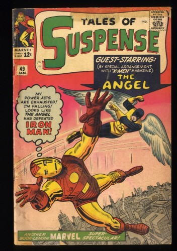 Tales Of Suspense #49 GD+ 2.5 1st X-Men Crossover! Iron Man