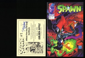 Spawn #1 NM/M 9.8 Official First Day of Issue Signed McFarlane TWICE with COA!