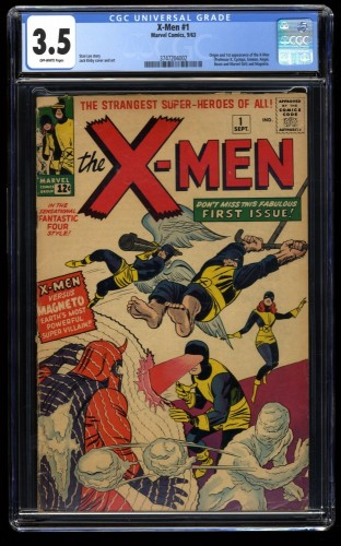 X-Men #1 CGC VG- 3.5 Off White Marvel Comics