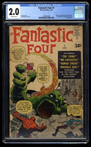 Fantastic Four #1 CGC GD 2.0 Off White Marvel Comics