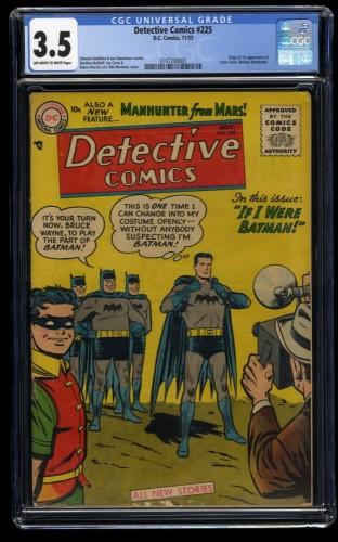 Detective Comics #225 CGC VG- 3.5 Off White to White 1st Martian Manhunter!