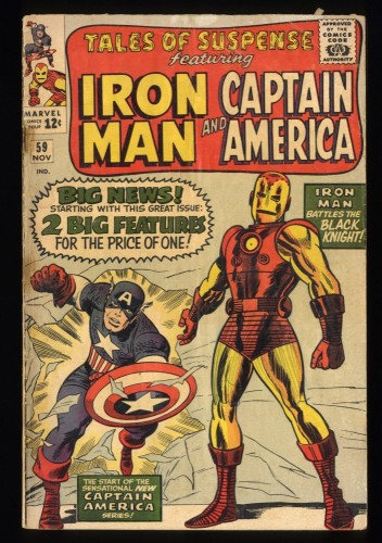 Tales Of Suspense #59 GD/VG 3.0 Captain America Iron Man! Iron Man