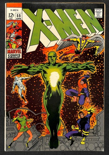 X-Men #55 VG/FN 5.0 2nd Havok! Living Pharoah! Marvel Comics