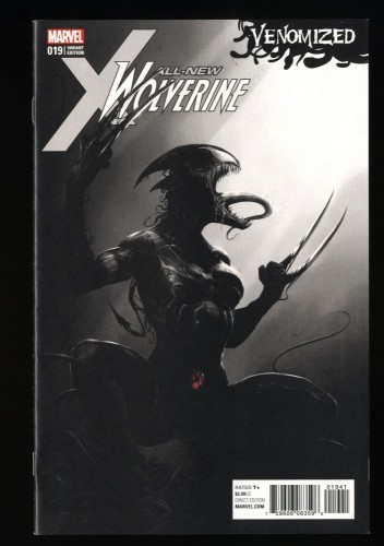 All-New Wolverine #19 NM- 9.2 Mattina Venomized 1:500 Sketch Variant!