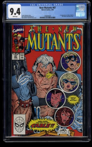 New Mutants #87 CGC NM 9.4 White Pages 1st Cable!