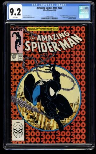 Amazing Spider-Man #300 CGC NM- 9.2 White Pages 1st Venom!