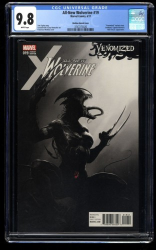 All-New Wolverine #19 CGC NM/M 9.8 Mattina Venomized 1:500 Sketch Variant!!